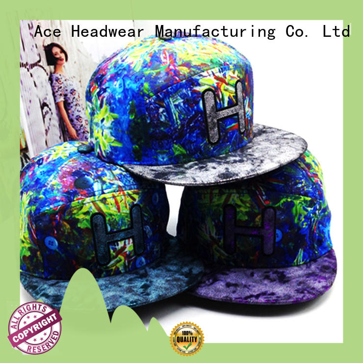 Breathable popular snapback caps sale for wholesale for fashion