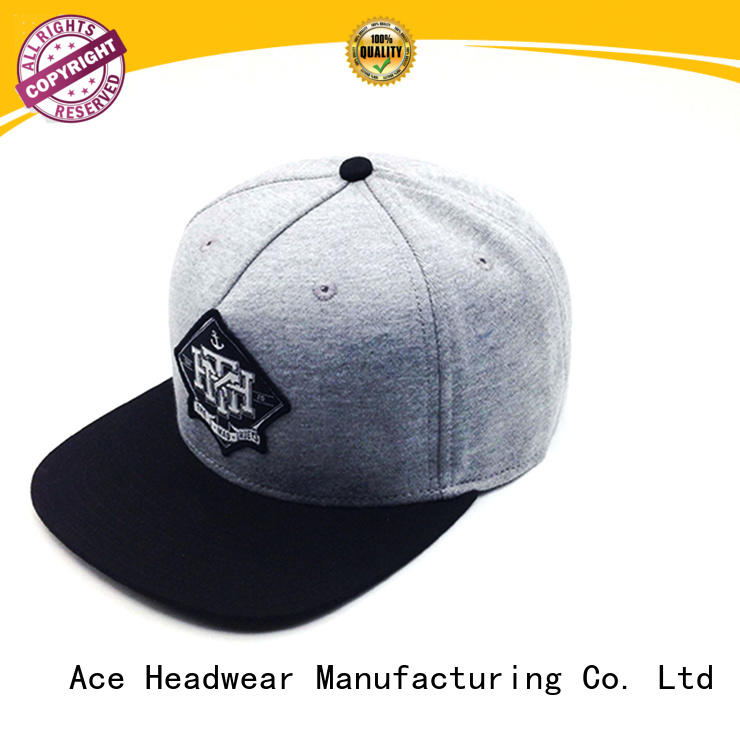 ACE Breathable mens snapback hats customization for beauty