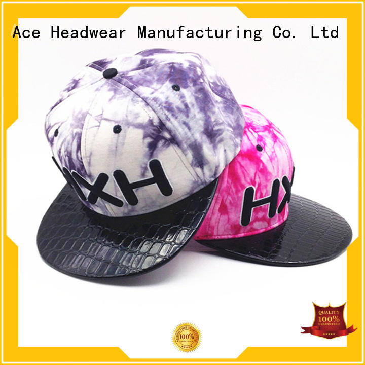 ACE printing best snapback hats supplier for fashion