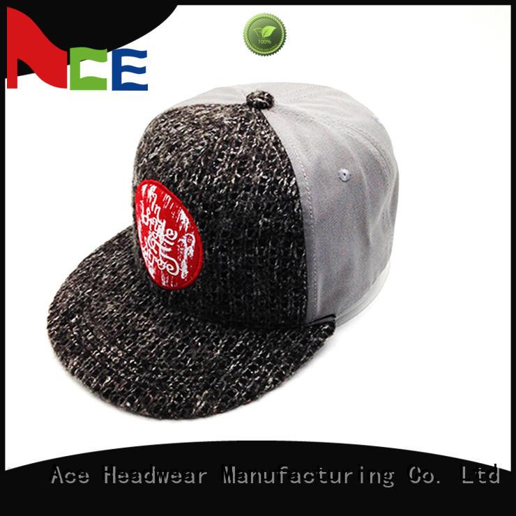 knitting blank snapback hats wholesale OEM for fashion ACE
