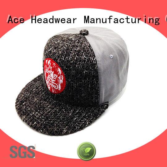 ACE durable mesh snapback hats customization for beauty