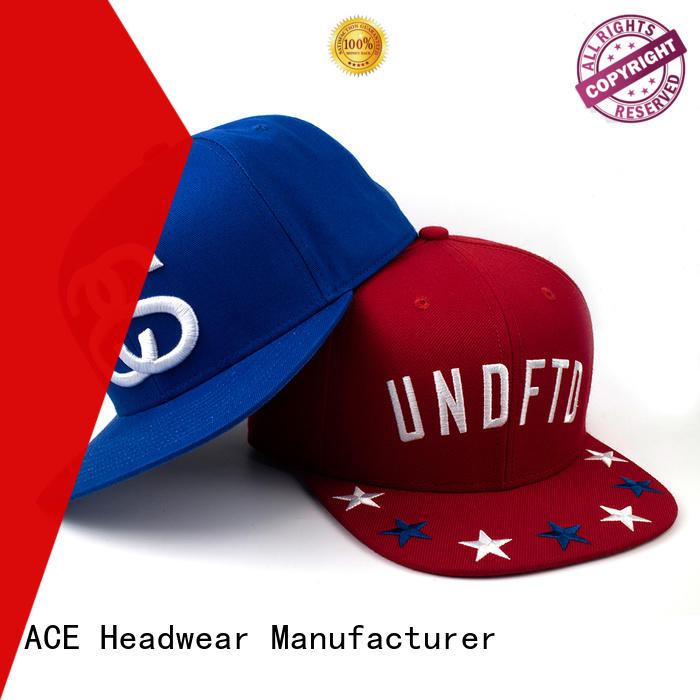 ACE high-quality black snapback hat for wholesale for beauty