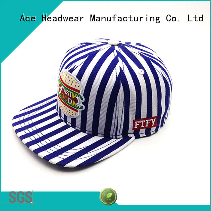 ACE white black and white snapback hats OEM for beauty