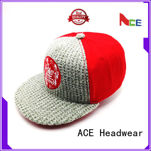 ACE high-quality snapback cap for wholesale for beauty