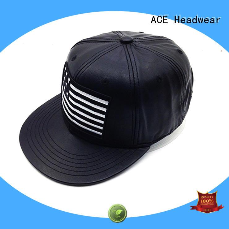 ACE high-quality custom snapback caps bulk production for fashion