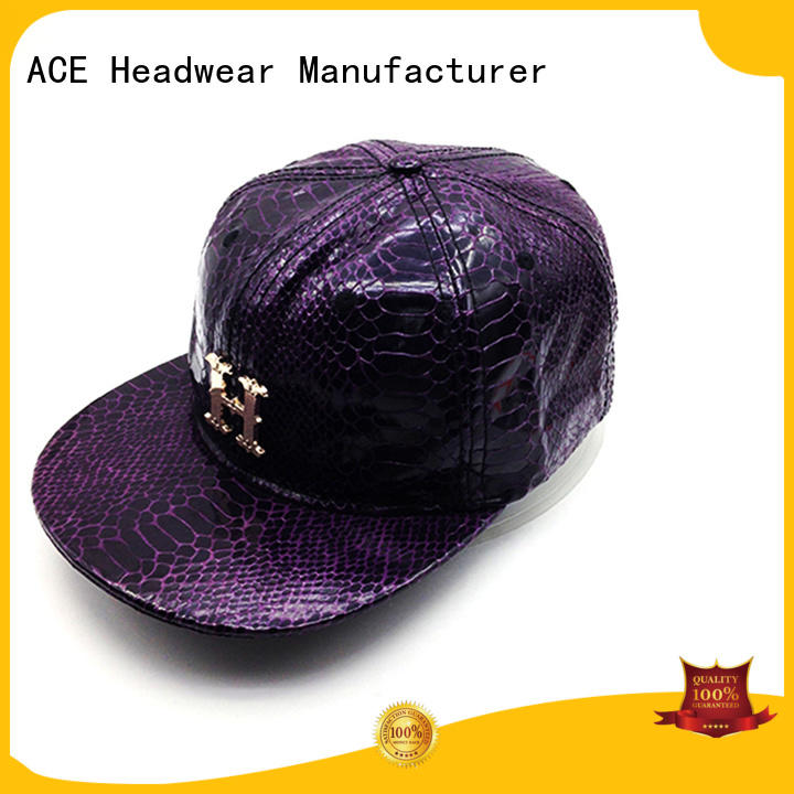 ACE customized youth snapback hats buy now for beauty